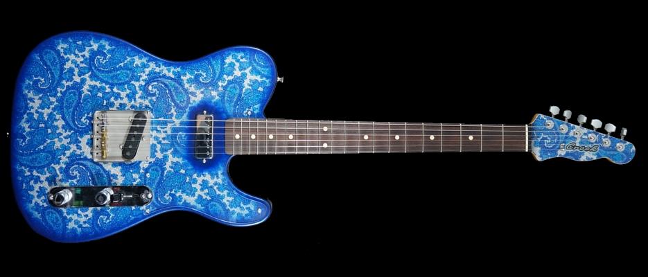 crook blue sparkle paisley t rebel guitars. Black Bedroom Furniture Sets. Home Design Ideas