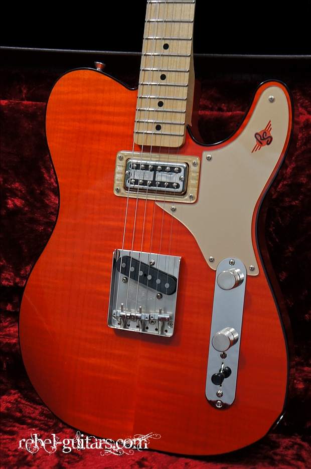 Tv Jones Pickups >> Preowned RS Guitarworks Rockabilly Custom in Burnt Orange ...
