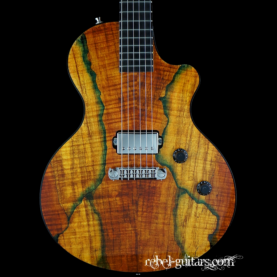 berumen flattop spalted maple jr rebel guitars. Black Bedroom Furniture Sets. Home Design Ideas