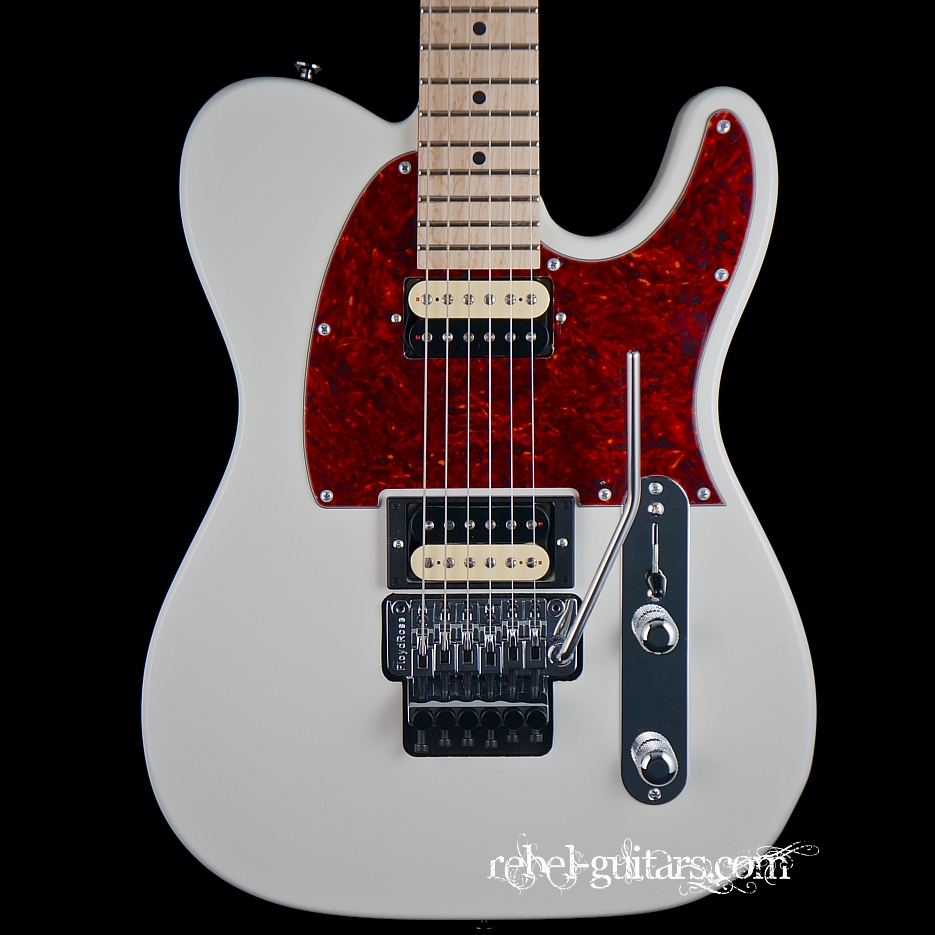Gj2 Hellhound In Antique White With Floyd Rose Rebel Guitars