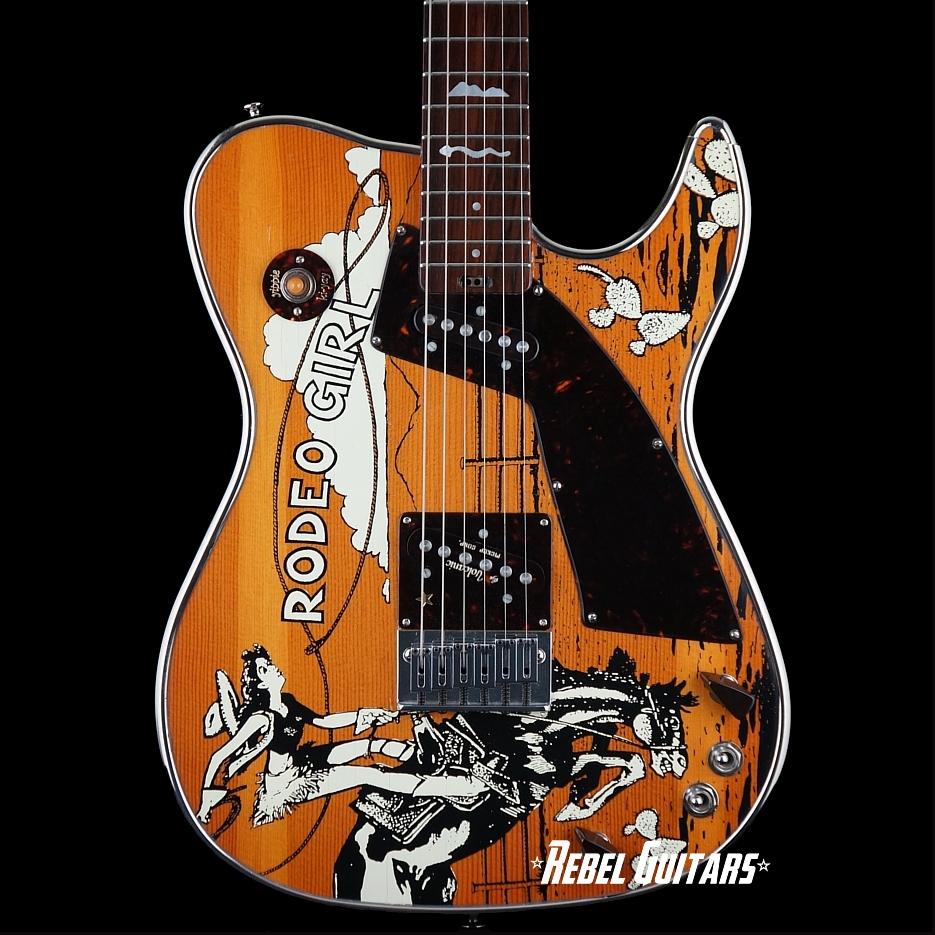 preowned girlbrand guitars rodeo girl rebel guitars. Black Bedroom Furniture Sets. Home Design Ideas