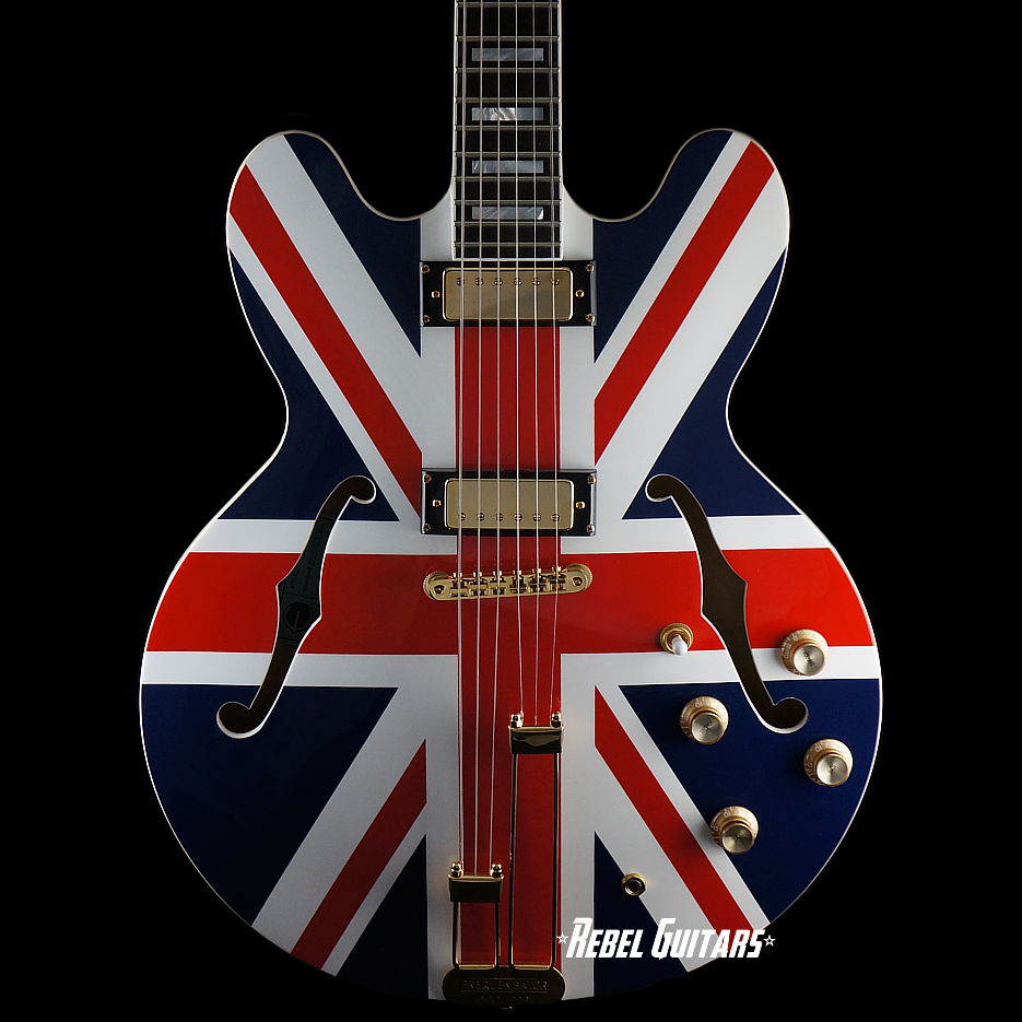 Preowned Epiphone Limited Edition u201cUnion Jacku201d Sheraton : Rebel ...