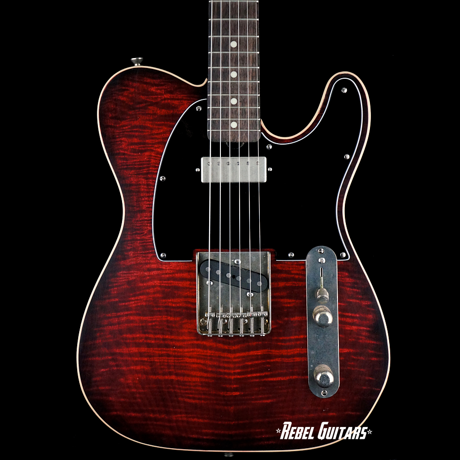 palir-Red-burst-flametop-titan-guitar
