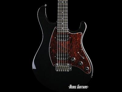 flaxwood-black guitar