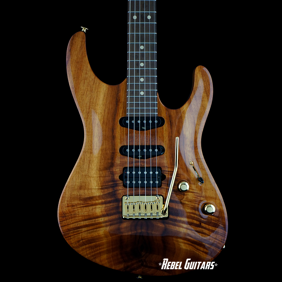 preowned 2013 suhr modern koa carve top rebel guitars. Black Bedroom Furniture Sets. Home Design Ideas