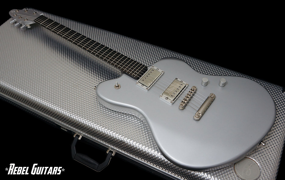 Preowned Henman Guitars MOD in Bond Aluminum Silver | Rebel Guitars