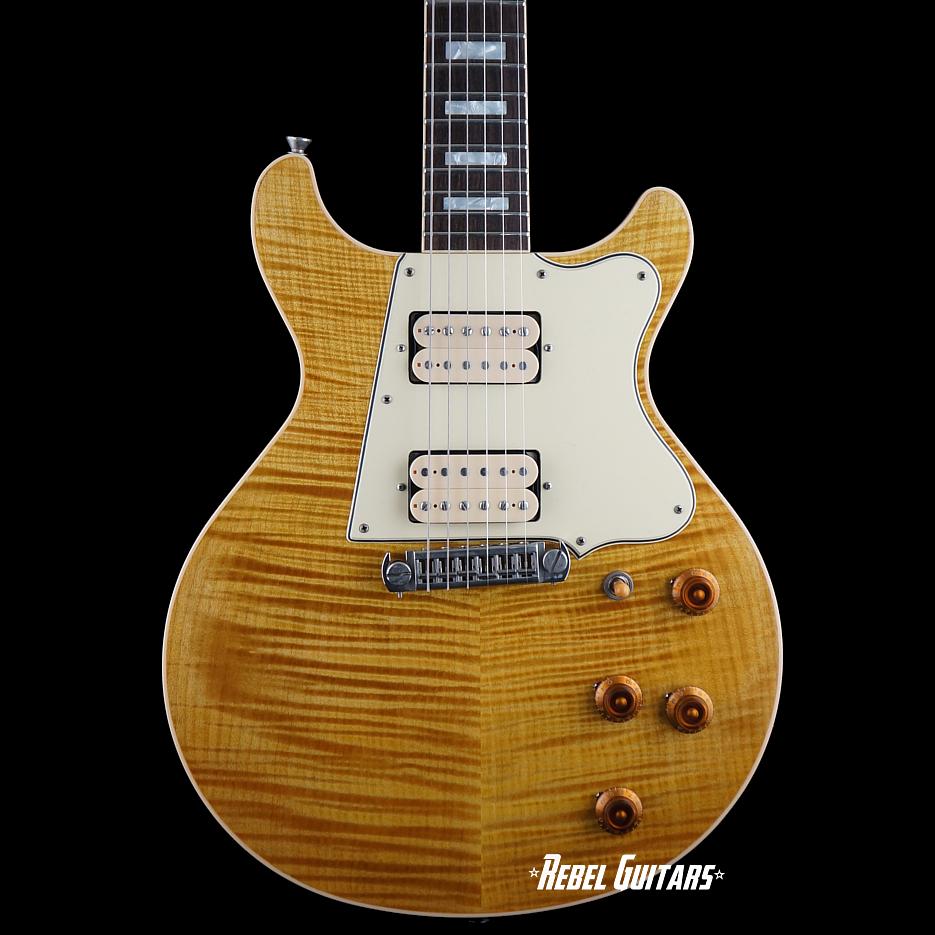 rock n roll relics thunders custom flametop in lemon drop rebel guitars. Black Bedroom Furniture Sets. Home Design Ideas
