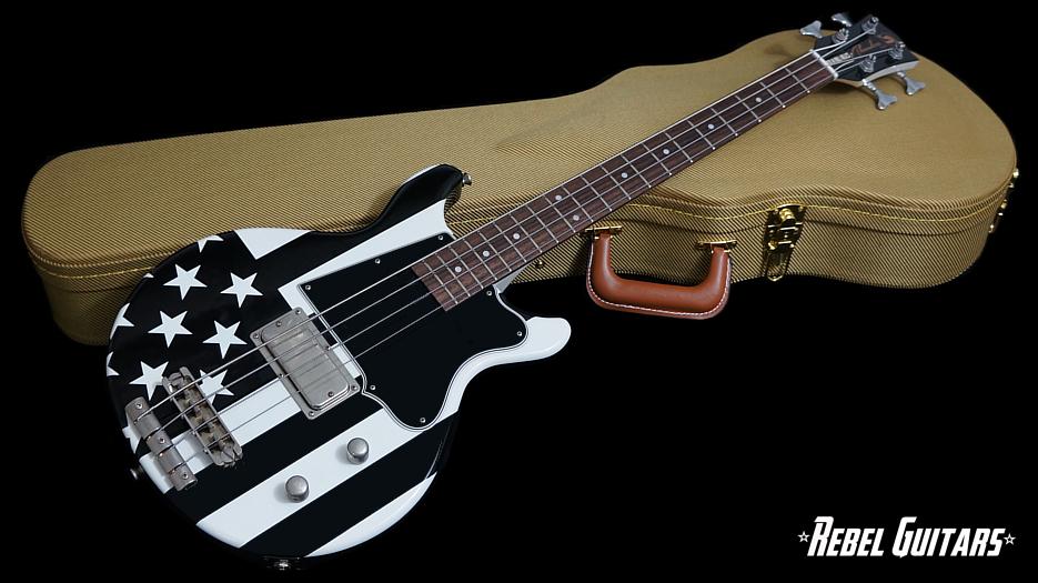 rock n roll relics thunders bass black flag rebel guitars. Black Bedroom Furniture Sets. Home Design Ideas