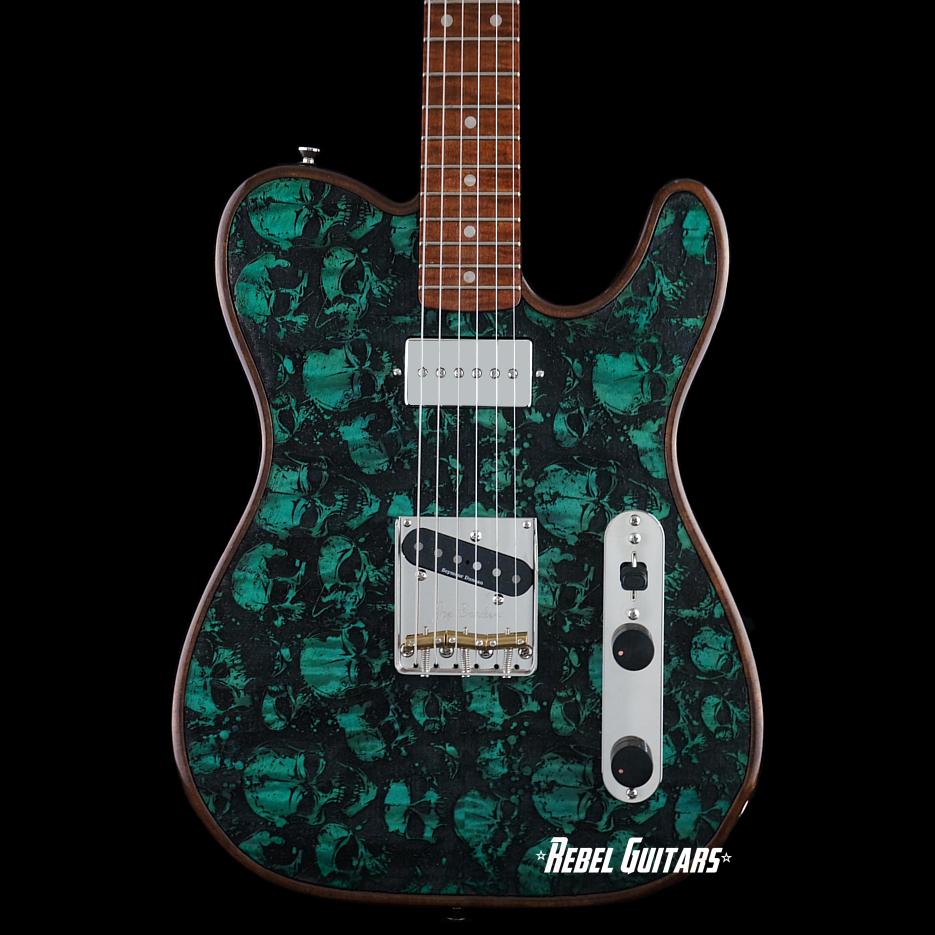 walla-walla-t-skulls-green-guitar