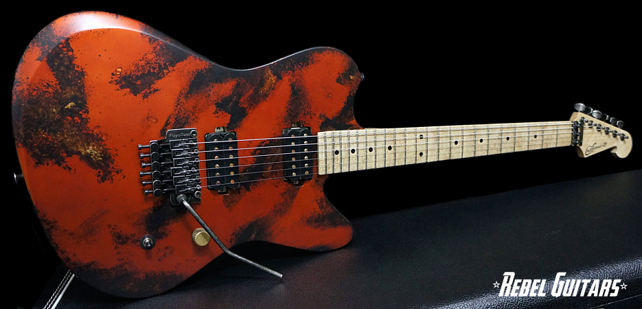 luxxtone-calavera-blackened-copper-guitar